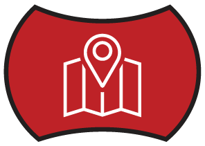 Routed Delivery Red Icon