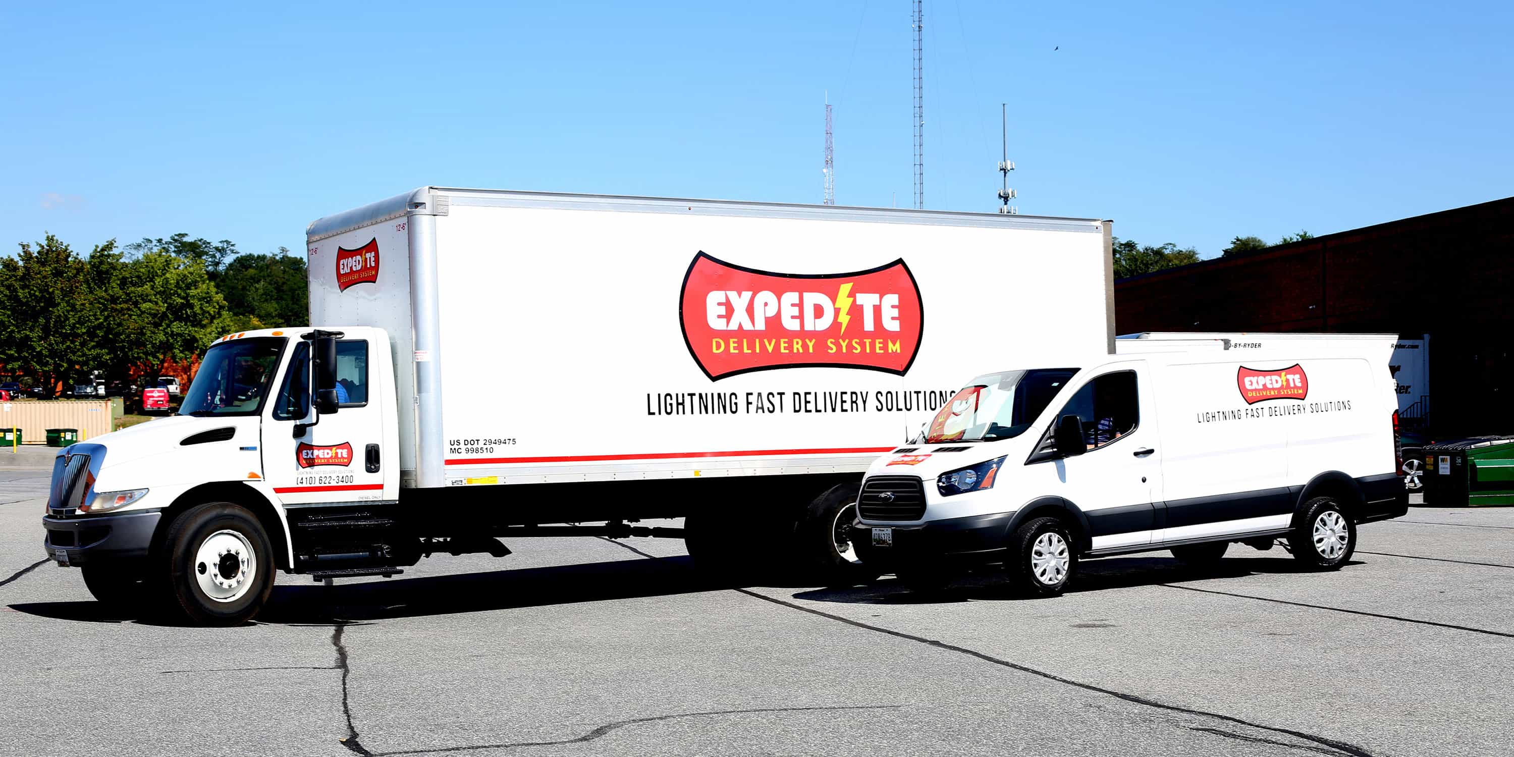 Expedite Delivery System Freight Truck and Van